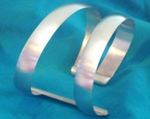 Sterling silver Contemporary Cuff Bracelet Unisex