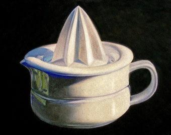 Porcelain Juicer, Art, oil painting , art print from original painting, kitchen art
