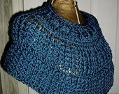 Teal Capelet / Ponchette - Crochet Accessories / Women / Teens by AngelAndFairyDesigns on Etsy.com