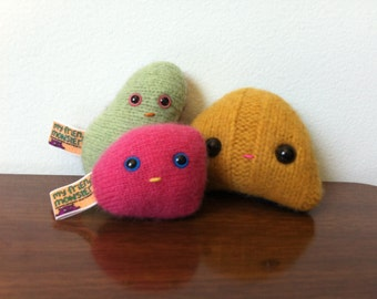 Micro monsters SET OF 3 tiny plush sweater monsters stuffed monster cute pocket monster