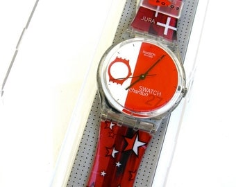 anyone got the time  ....    vintage swatch watch