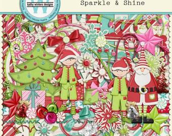Digital Scrapbook Sparkle & Shine