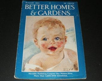 Vintage Better Homes and Gardens Magazine January 1933 - Retro 1930s Art Scrapbooking Paper Ephemera