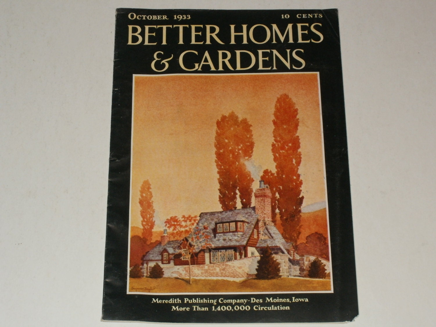 Vintage Better Homes And Gardens Magazine October 1933 Retro