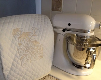 Quilted Embroidered Kitchen Aid Artisan Stand Mixer Cover