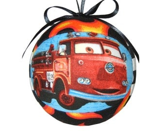 Quilted Kimekomi Christmas Ornament Kids Gift CARS Macksm & Sheriff for Boys and Girls Tree Decoration Christmas Gift by CraftCrazy4U Etsy