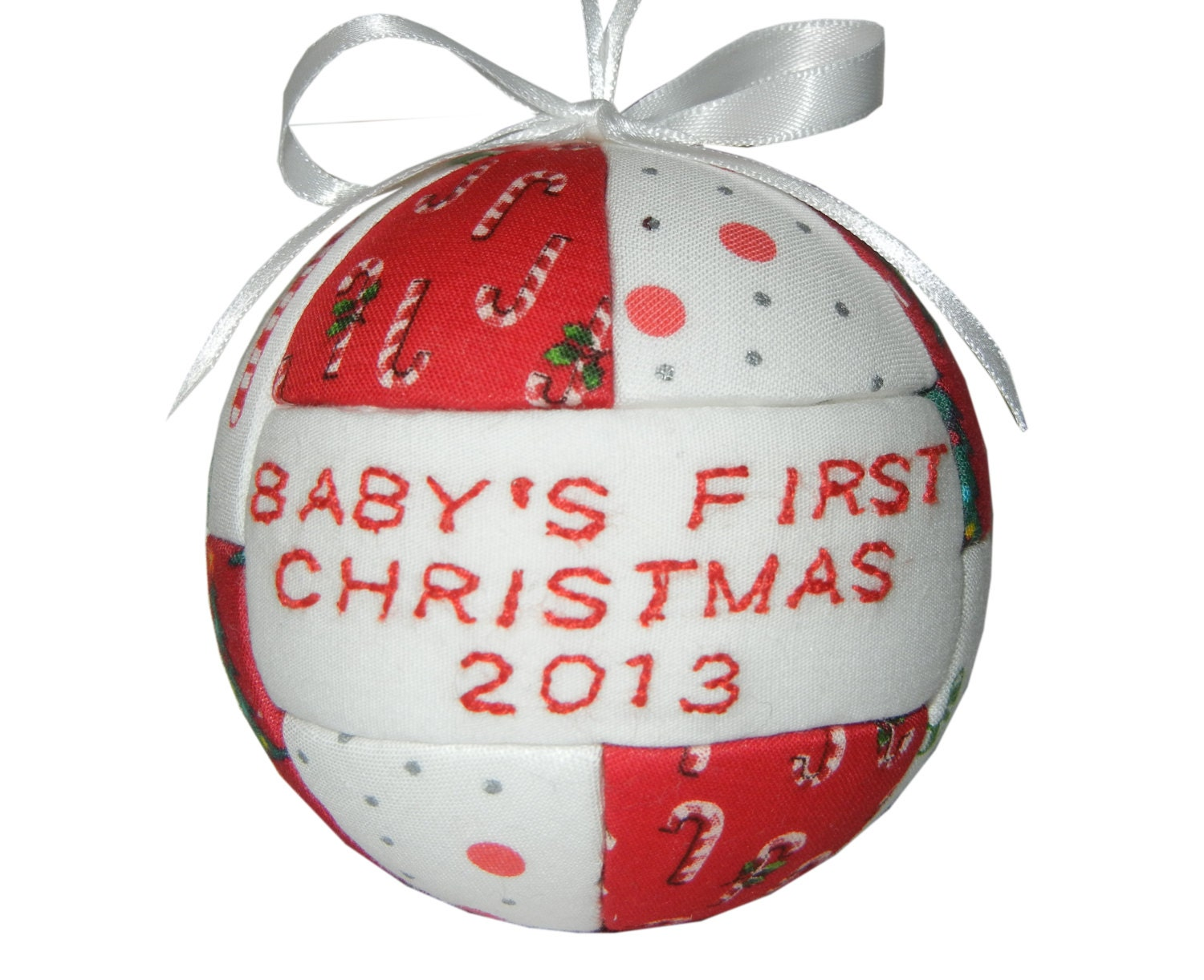 Baby's First Christmas Ornament, Personalized Wooden