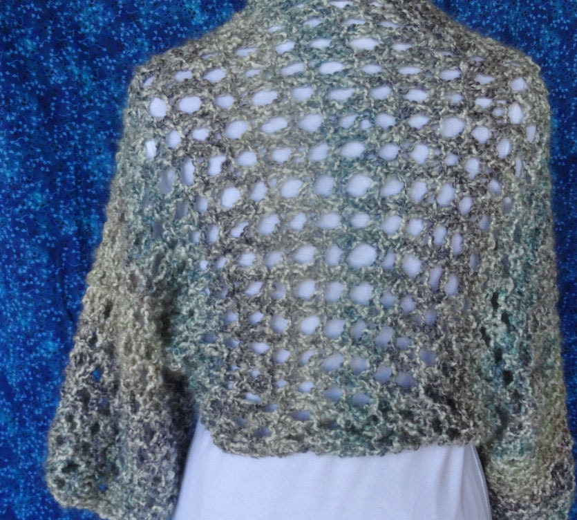 Shrug Knitting Patterns For Beginners : Knitting Pattern Knitted Shrug Design Big Lacy by KimberleesKorner