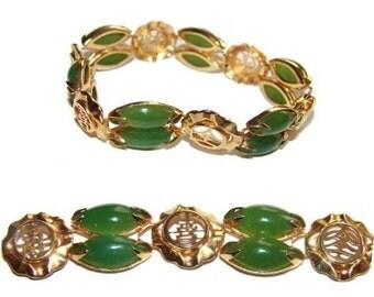 Free Shipping Genuine Jade Chinese Good Luck Amulets Gorgeous Bracelet