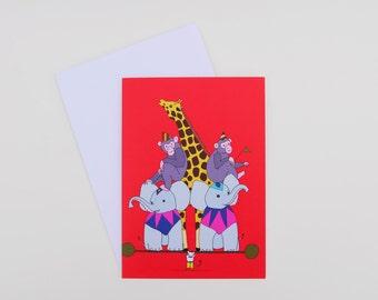 Circus Strong Mouse Card