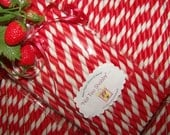 """Paper Straws For Valentines Day 50 Red & White Stripe  Fast Ship Everywhere  """"Custom Orders Always Welcome-U-Pick"""""""