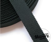 Black 15mm No.3 Millinery Petersham Hat Ribbon (5 yards)