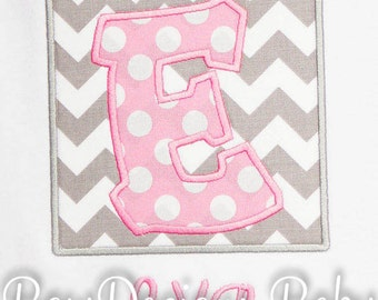 Girls Initial Shirt, Birthday Shirt, Monogrammed, Custom Colors, Personalized, Shirt,Tank,Bodysuit,Romper,Sizes 3 months up to 12 years,Gift