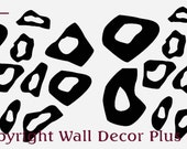 Tiny Leopard Print Decal Glossy Stickers 20pc set 2inch