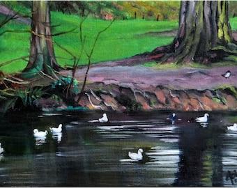 Irish Landscape Original Oil Painting - 12x9in