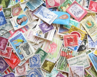 Vintage Postage Stamps - Stamp Mix - Stash of Stamps - Old Stamps - Paper Stamps