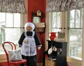 Oversized to fit Oreck or Dyson Vacuum Cleaner Cover - Soft Sculptured Grandma - Maid/Nanny Black and White