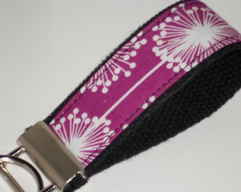 Purple Snowflake Key Chain, Purple Keychain, purple key fob - ready to ship