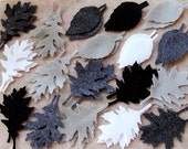 Stormy Weather - Tattered Leaves Value Pack - 108 Die Cut Felt Shapes