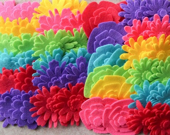 Summer of Love - Flower Power Pack - 180 Die Cut Felt Flowers