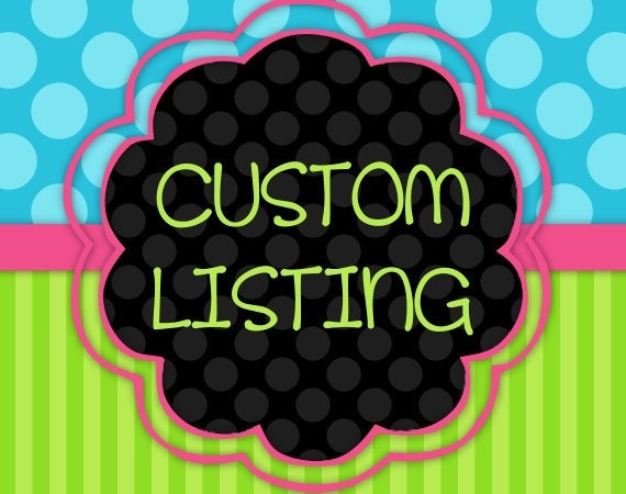 Custom Reserved listing for Taylorscloset
