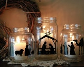 Vinyl Nativity Cutout- (Cutout only, jars not included)