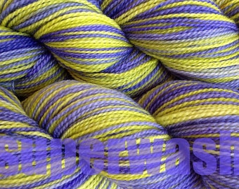 Fingering Weight Handpainted Sock Yarn in Early Crocus Superwash