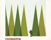 Kids Room Art- Sasquatch of the Great Pacific Northwest Giclee Print