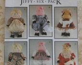 "18"" Pig Doll Sewing Pattern UNCUT Simplicity 7360 Santa and Mrs.Claus Victorian Country"
