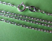 2 pcs Sterling silver 16 inch italian smooth anchor chain