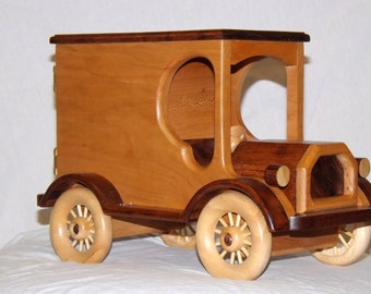 Popular items for wood truck bank on Etsy
