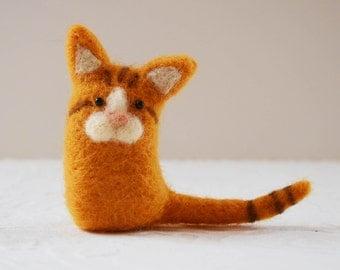 Kittykitts, needle felted kitty cat fiber art sculpture