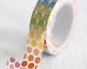Colorful Rainbow Dots Washi Tape Pretty Tape Embellishment