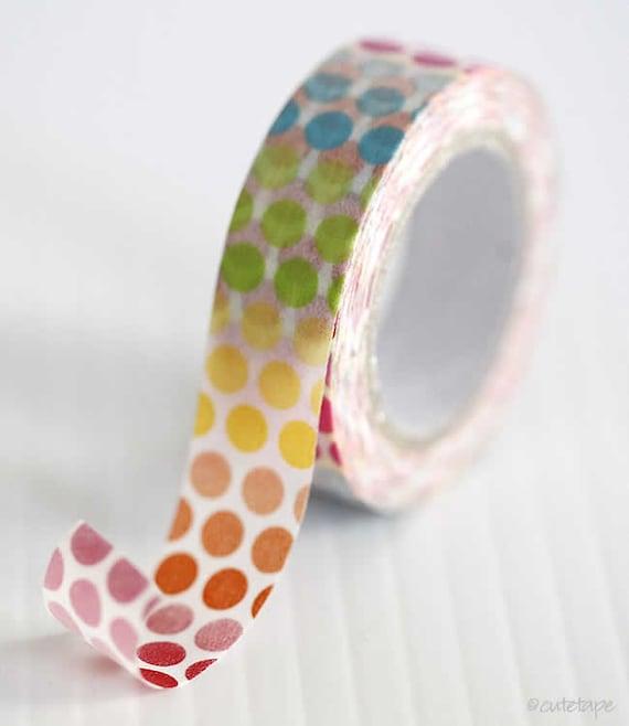Colorful Rainbow Dots Washi Tape Pretty Tape Embellishment