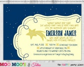 Printable STAR DUST Baby Shower Invitation By Moo Moo's & Tutus Design Studio