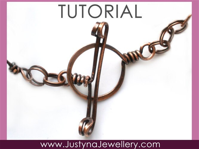 Toggle clasp tutorial wire clasp tutorial wire wrapping for Hammered copper jewelry tutorial