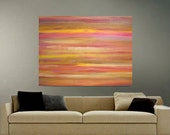 Original Abstract Painting Huge Contemporary Landscape Painting Sunset Sunrise, Southwest, Dramatic, Modern, 36 x 48, Ready to Hang