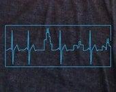 Heartbeat:Skyline chicago shirt