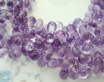 Finest Pink Amethyst Faceted Baby Drops 4 Inch Strand