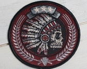 """Tribal Headdress - 3.5"""" Embroidered Patch"""