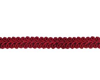 """E1901 Burgundy Gimp Sewing Upholstery Trim 1/2"""" (E1901-BRG)"""