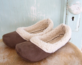 Slipper Sewing Pattern.  Lambs Wool Loafers. PDF Pattern Child size 13 to 4