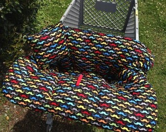 TWIN Boutique (Manly Mustache ) Shopping Cart Cover