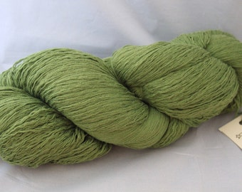 30% off STORE CLOSING SALE Recycled Green Cotton Yarn, Lace Yarn - 1078 Yards