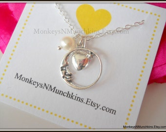 Love You to the Moon and Back Necklace N039