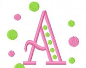 Embroidery Machine Polka Dot Monogram Alphabet Set 2026 INSTANT DOWNLOAD
