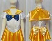 Halloween Child's Sailor Venus Costume Cosplay Costume Size Girls 18mo 2 3 4 5 6 7 8 9 10 11 12 14 Sailor Moon