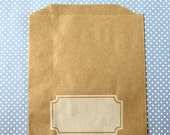 Notched Box Kraft Favor Bags - Paper Bags (20) - Midi Size - 7 x 5.5 inches