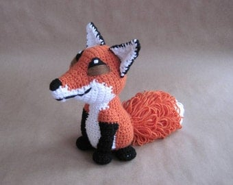 Crocheted Red Fox PDF Pattern - Digital Download - ENGLISH ONLY