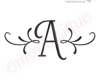 Adams Accented Initials Monogram Set- - Machine Embroidery Font Alphabet Letters  - Instant Download design